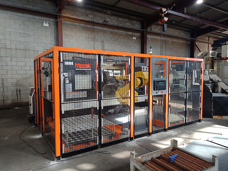 Agile Modular machine loading solution for long and heavy parts