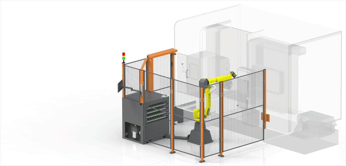 Agile robotic loading systems for CNC machine tools