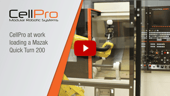 CellPro loading Mazak Quick Turn 200