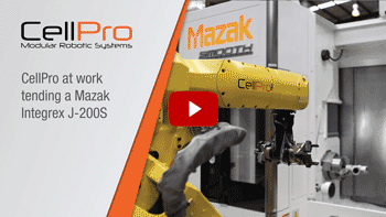 CellPro tending Mazak J 200S